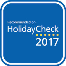 Recommended on HolidayCheck 2017